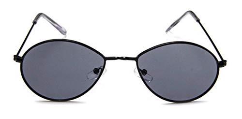 WSKPE Sonnenbrille Brillen Designer Damen Herren Sonnenbrille Brille Gelb Damen Tear Drop Runden Schwarzen Rahmen Graue Linse