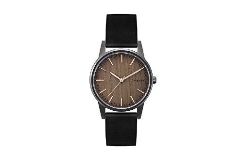 TAKE A SHOT | Armbanduhr | Susy | Zifferblatt aus Holz | Walnussholz | Holzuhr | Schwarz | 36mm