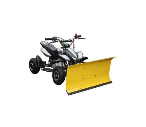 Kinderquad schwarz mit Schneeschieber Schneeschild Schneeräumer Quad ATV