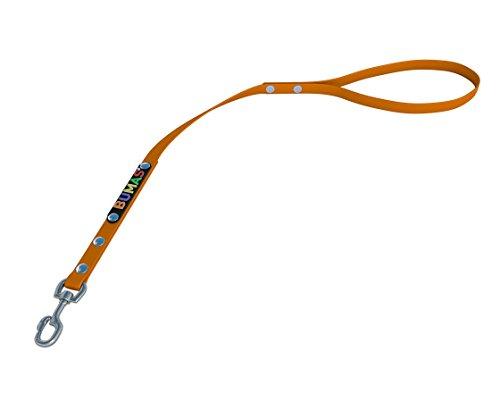 BUMAS - control - Kurzführer aus BioThane® in neon orange 0,5 m