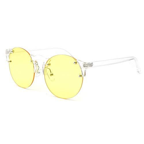 WUJIEXIAN-JXL Simple Ocean Tablet Personality Sonnenbrille Cobwebby Turn Mirror Rahmenlose Sonnenbrille Outdoor-Brille (Color : D) -