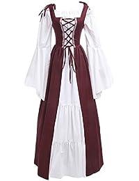 LaoZanA Donna Vintage Rinascimentale Medievale Costume Abito Vestito Gotico  Fancy Cosplay 30cf3a92af8
