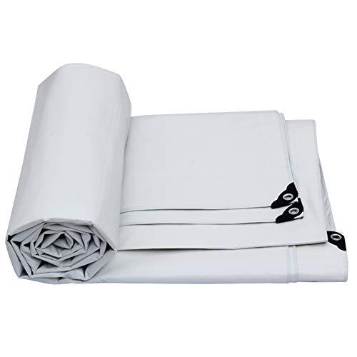 LIXIONG Plane Gewebeplane Regen Tuch Linoleum Lager LKW-Abdeckung Sonnenschirm Tuch Kältebeständig, Weiß, Dicke 0,32 mm, -175 g / m2, 10 Größen (größe : 10x15m)