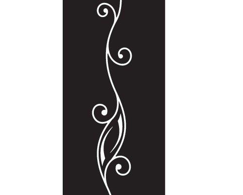 Apalis Rollo No. 37Ornament III Selbstklebende Sichtschutzfolie 5Farben Fenster Film Folie Glas Décor Blickdicht Badezimmer Glas Film Farbe: erfrischendes Minz, Maße: 200cm x 50cm