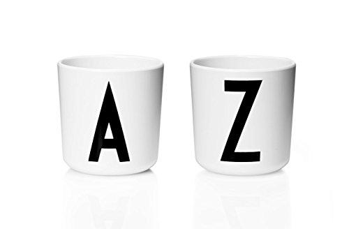 Design Letters - Melamin Becher - Buchstabe: M - Multifunktionsbecher - Arne Jacobsen