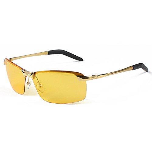 GZW001 Männer Fahren polarisierte Sport Sonnenbrillen Metallrahmen Ultraleicht (Color : B)