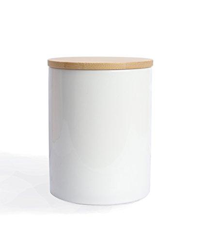 Fecihor Küche Keramik-Dose Behälter-Set mit luftdichter Verschluss mit Deckel, einfacher Stil, Coffee Bean Pasta-Dose für Zucker, Tee, Gewürze und (1Stück)