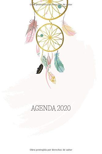 Agenda 2020: Atrapasueños Planeador Anual Mensual Semanal de 6x9 inches o 15x22 cm, con 135 páginas en blanco y negro para mujeres jóvenes.