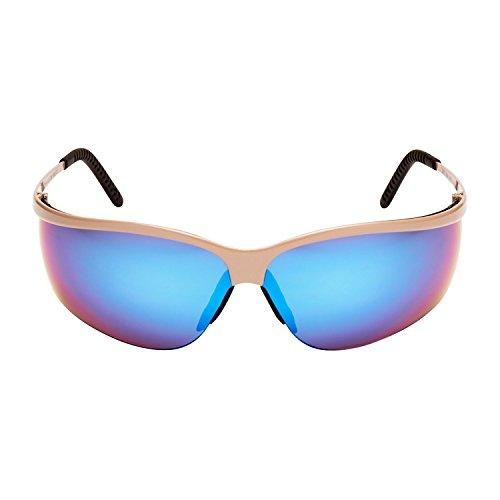 3M MeSp11Si Metaliks Schutzbrille, UV, Blau Verspiegelt, Rahmen Silber