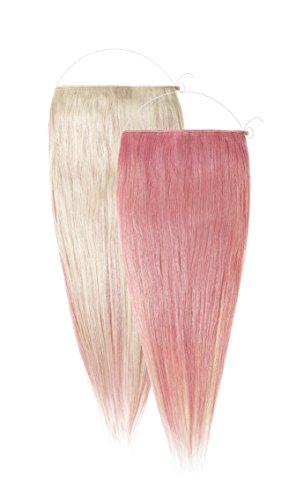 American Dream le Loop Duo Système Réversible d'Extension de Cheveux Grade Aaaa Remi Cheveux Humains Couleur 60 Blond Pur + Couleur Rose Bébé