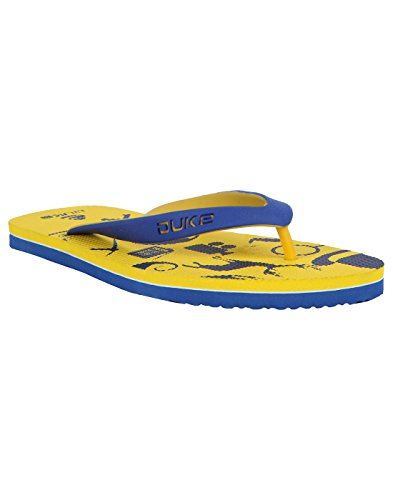 Duke Men's Yellow & Blue Coloured Eva Slippers 9  available at amazon for Rs.250