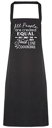 hippowarehouse alle Menschen sind sind gleich, aber nur die Besten Love Kochschürze Küche Kochen Malerei DIY Einheitsgröße Erwachsene, schwarz, Einheitsgröße (Kleidung Brot Butter)