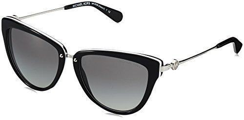 Michael kors donna abela ii 312911 56 occhiali da sole, nero (black/white/gradient)