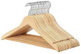 Magna Heavy Duty Wooden Plastic Cloth Hangers- set of 36 pcs with 5 YEARS WARRANTY