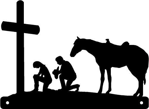 Metallschild Cowboy & Cowgirl at The Cross -