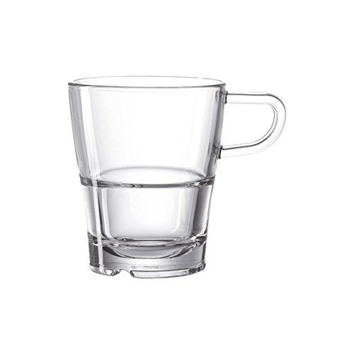 Leonardo 024013 Henkelbecher/Kaffeetasse - Senso - Glas - 1 Stück