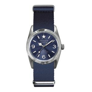 Oxygen EX-S-BOS-34-NA - Reloj de cuarzo para mujer, con correa de nailon, color azul