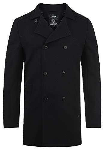 !Solid Harvey Herren Winter Mantel Wollmantel Lange Winterjacke mit Doppelreihiger Knopfleiste, Größe:XXL, Farbe:Black (9000)