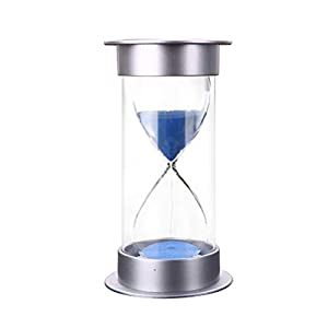 Faviye 30 Minuten Sanduhr Sand Professionelle Zeitschaltuhr Sanduhr Sand Blau Für Home Office Dekoration