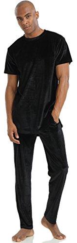 pizoff-unisex-hip-hop-velvet-pants-t-shirts-sets-with-side-zipper-in-various-colors-y1758-02-m-set