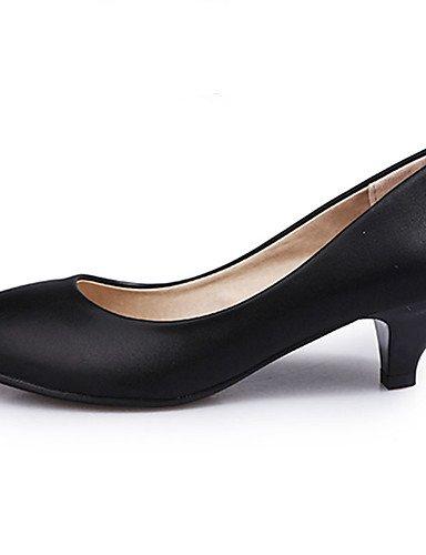 GS~LY Damen-High Heels-Büro / Lässig-PU-Keilabsatz-Wedges / Rundeschuh-Schwarz black-us6.5-7 / eu37 / uk4.5-5 / cn37