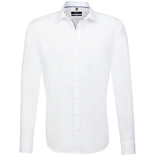 Seidensticker Tailored Passform Bügelfrei, Chemise de Costume Homme Blanc