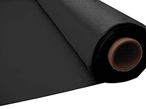 100ft Plastic Disposable Party Banquet Table Roll (Black) by Tableware