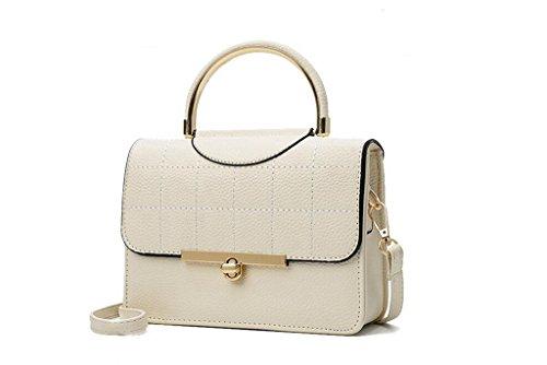 La nuova borsa a tracolla di Miss Han Banchao, sacchetto di mano di moda piccola piazza, le donne del messaggero piccola borsa creamy-white