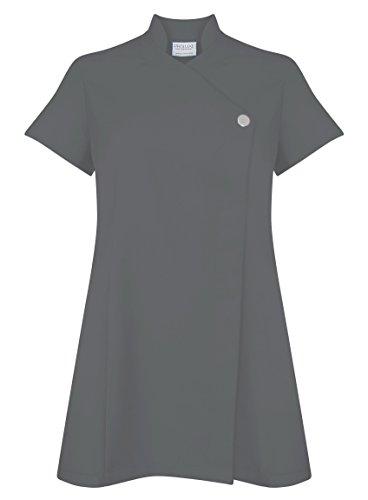 Proluxe, tunica classica con bottone, per salone di bellezza, parrucchiera, centro massaggi e centro benessere, disponibile in 9 colori. - 48 - grey