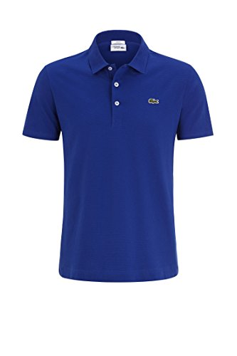 Lacoste YH4801 Herren Poloshirt in Slim Fit, Polohemd, Polo, Kurzarm Aus 100% Baumwolle France SC6