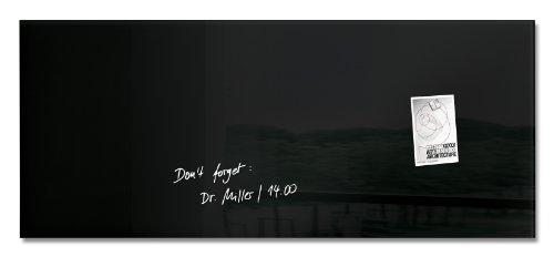Sigel GL240 Tableau magnétique en verre Artverum 130 x 55 cm - noir