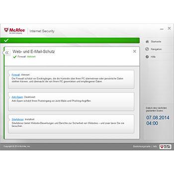 Foto Screenshot McAfee Internet Security