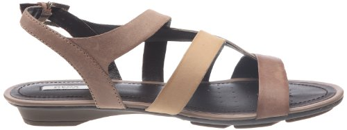 Geox  Donna Felisa,  Damen Fashion-Sandalen Multicolore (Marron foncé/camel)