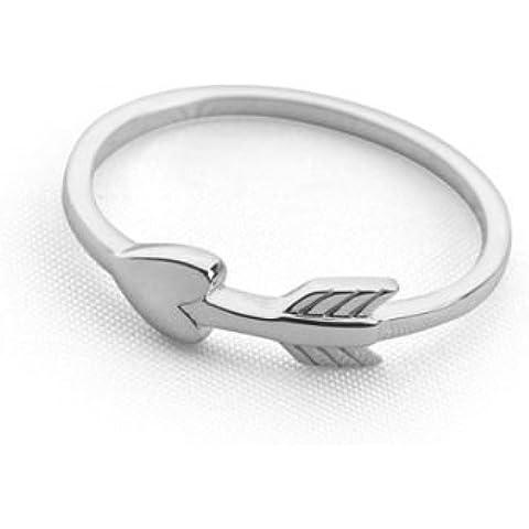 Anello con elemento a forma di freccia di Cupido