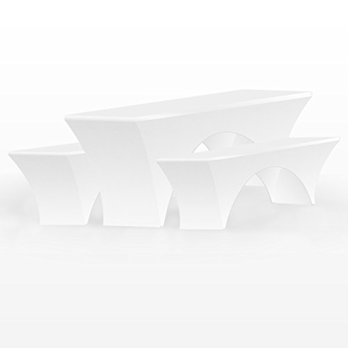 3tlg. Biertischhusse Stretch Bierzeltgarnitur Husse Hussen Tisch Biertischhusse Festzeltgarnitur 50 cm.breit Set Biertisch Husse Bierbankhussen