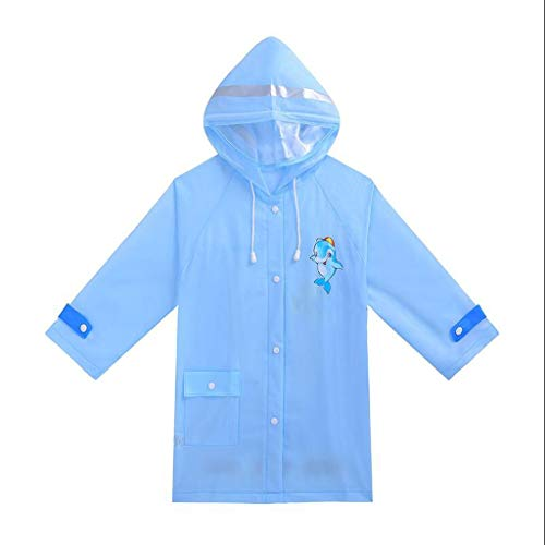 BAIF Regenmäntel Kinder Jungen Und Mädchen Mit Schultaschen Mode wasserdichte Poncho Flut (Farbe: D-M)
