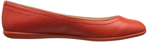 Nine West Zarong Leather Ballet Flat Orange