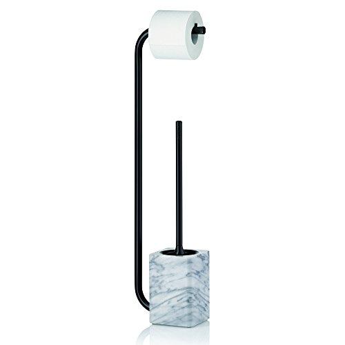 Kela 20031 Toilettengarnitur, Papierrollen- und WC-Bürstenhalter, Metall/Marmor, 71,5 cm, Varda,...
