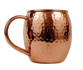 Hammered copper barrel with nickel lining - 16 oz