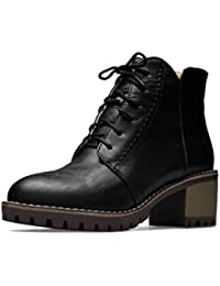 Botines para mujer, botas de moda de PU artificiales de otoño / invierno, botas