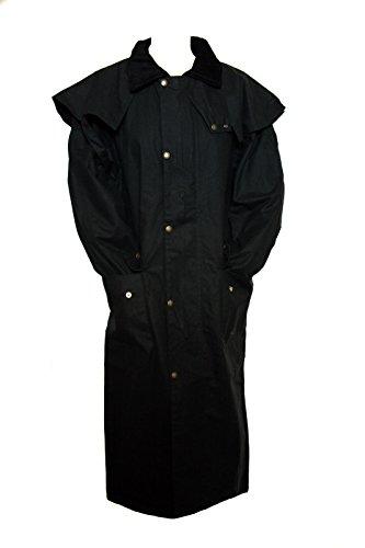 Manteau Long ciré stockmans Par Ben Nevis doublefold cire meilleure qualité Noir - Noir