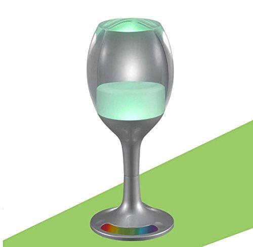 HHORD PVC LED Gläser Bunte glühende Nacht Licht Gauges Cup Touch Nachttisch Lampe Paar Umgebungslicht (16,8 * 6,8 * 6,8cm) , 1 20-gauge-schwarze Kabel