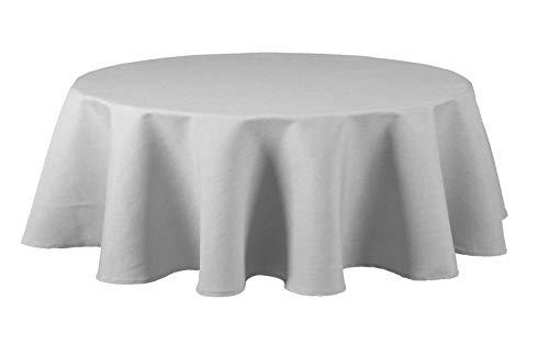 Maltex24 Textil Tischdecke - Leinen Optik - wasserabweisend oval (Silbergrau, oval 130x220) - Küche Oval Tisch