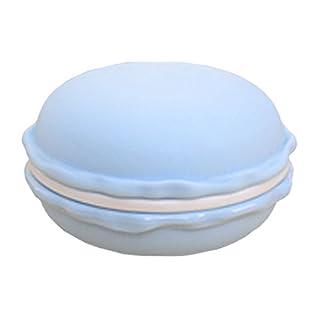 Amybria Groß Stil Nette Macaron Schmuckschatullen Pillendosen Aufbewahrungsboxen für Ohrringe, Ringe, Halskette, Kopfhörer, In-Ear Ohrhörer (Blau)