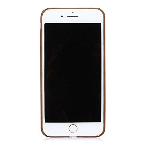 iPhone 7plus Coque,Fodlon® Mode Bois Grain Doux TPU pour téléphone Housse -Light Profond
