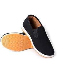Zapatos Casuales de Piel Forrados para Hombres Zapatillas clásicas  Antideslizantes de Gamuza sintética cálidas Zapatos Perezosos a43d396c9c7