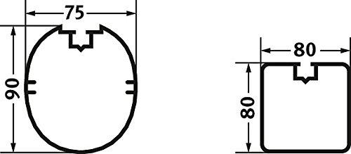 Sport-Thieme Jugendfußballtor 5×2 m, Quadratprofil, transportabel mit Bodenrahmen - 5