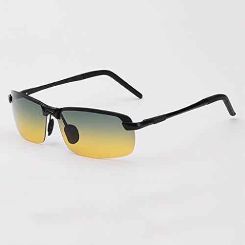 Sonnenbrillen Nachtsichtbrille Fahren Männer Frauen Tag Nacht Polarisierte Fahrspiegel Fahrer Blendschutz Sonnenbrille Gläser ( Farbe : Schwarz )