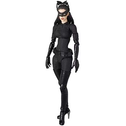 RFJJAL Batman Film Charakter Modell Dark Knight Rise Catwoman Anime Spielzeug Mädchen Geschenke Sammlung Souvenirs Handwerk Urlaub Geschenke (15 cm)