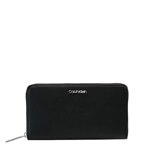Calvin Klein Damen Tack Large Ziparound XL Geldbörse, Schwarz (Black), 2.5x20x11 cm